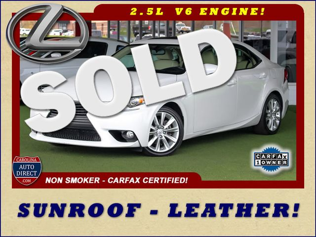 2014 Lexus IS 250 RWD - SUNROOF - ONE OWNER! Mooresville , NC 0