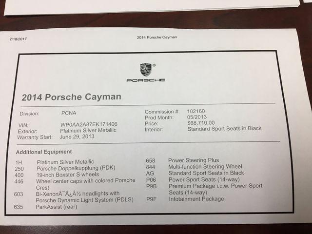 2014 Porsche Cayman Longwood, FL 33