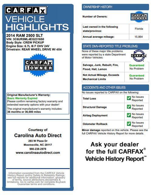 2014 Ram 2500 Big Horn Mega Cab 4x4 - 6-SP MANUAL - EXTRA$! Mooresville , NC 3