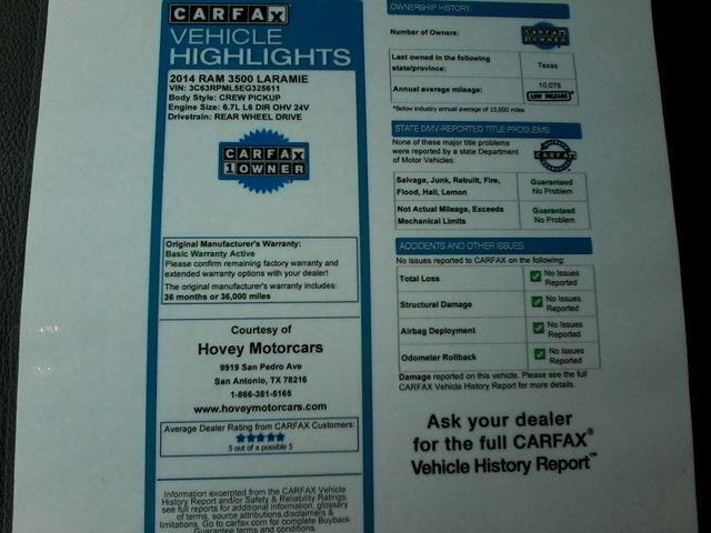 2014 Ram 3500 Laramie, Mega Cab Megacab Dually San Antonio, Texas 42