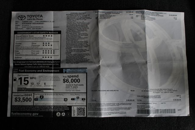 2014 Toyota Tundra 1794 CrewMax 4x4 - NAV - SUNROOF - BLIND SPOT! Mooresville , NC 6