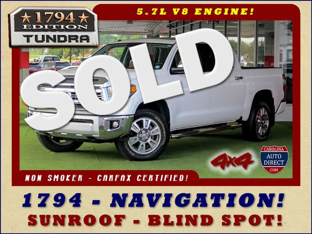 2014 Toyota Tundra 1794 CrewMax 4x4 - NAV - SUNROOF - BLIND SPOT! Mooresville , NC 0