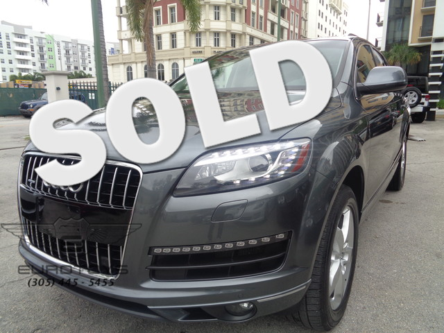 2015 Audi Q7 30T Premium Plus AUDI Q7 ONE OWNER CARFAX CERTIFIED FACTORY WARRANTY GREY OVER REAL