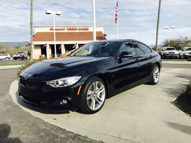 2015 BMW 435i Gran Coupe 2015 BMW 435i in Black Sapphire Metallic over Black Leather Interior wRe