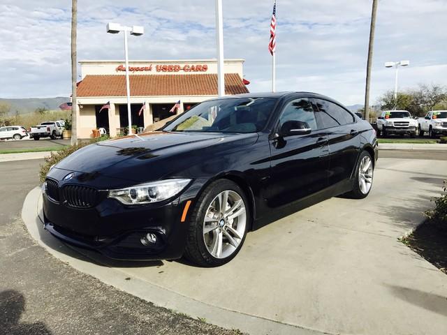 2015 BMW 435i Gran Coupe 2015 BMW 435i in Black Sapphire Metallic over Black Leather Interior wRe