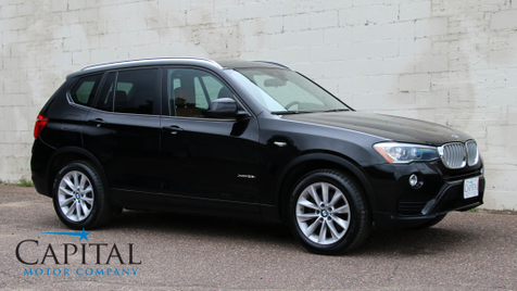 2015 BMW X3 xDrive28i AWD Crossover w/Navigation, Backup Cam, Heated Seats & Driver Assist Plus Pkg in Eau Claire