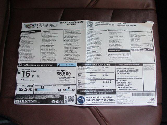 2015 Cadillac Escalade ESV Premium 4x4 Plano, Texas 25