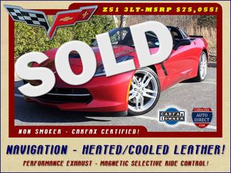 2015 Chevrolet Corvette Stingray Z51 3LT-NAVIGATION-HEATED/COOLED KALAHARI LEATHER Mooresville , NC