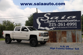 2015 Chevrolet1500 High Country 4wd Navi Roof Dvd Pearl White Lifted 35 Coursers On 20 Fuel Rims ONE OWNER CLEAN CARFAX | Baton Rouge , Louisiana | Saia Auto Consultants LLC-[ 2 ]