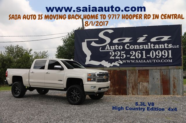 2015 Chevrolet1500 High Country 4wd Navi Roof Dvd Pearl White Lifted 35 Coursers On 20 Fuel Rims ONE OWNER CLEAN CARFAX | Baton Rouge , Louisiana | Saia Auto Consultants LLC in Baton Rouge  Louisiana