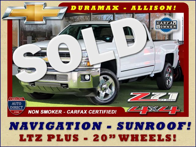 2015 Chevrolet Silverado 2500HD Built After Aug 14 LTZ PLUS Crew Cab 4x4 Z71 - NAV - SUNROOF! Mooresville , NC 0