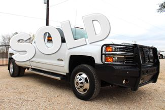 2015 Chevrolet Silverado 3500 HD DRW High Country Crew Cab 4X4 6.6L Duramax Diesel Allison Auto LOADED Sealy, Texas