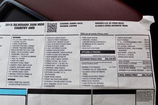 2015 Chevrolet Silverado 3500 HD DRW High Country Crew Cab 4X4 6.6L Duramax Diesel Allison Auto LOADED Sealy, Texas 85