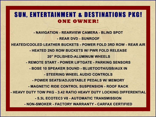 2015 Chevrolet Tahoe LTZ 4WD - NAV - REAR DVD - SUNROOF! Mooresville , NC 1