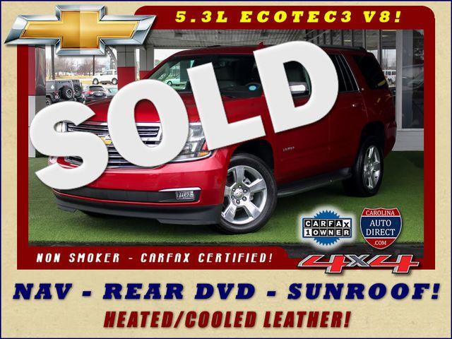 2015 Chevrolet Tahoe LTZ 4WD - NAV - REAR DVD - SUNROOF! Mooresville , NC 0