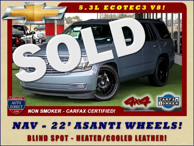"2015 Chevrolet Tahoe LTZ 4X4 - 22"" ASANTI WHEELS - NAV! Mooresville , NC 0"