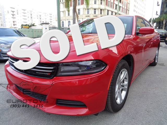 2015 Dodge Charger SE 2015 DODGE CHARGER SE RED ON BLACK EQUIPPED WITH A 36L V6 24V WT SPEED CON