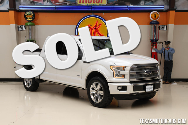 2015 Ford F-150 Platinum 4x4 ECOBOOST The 2015 Ford F-150 Platinum EcoBoost 4x4 is Fords top-tier
