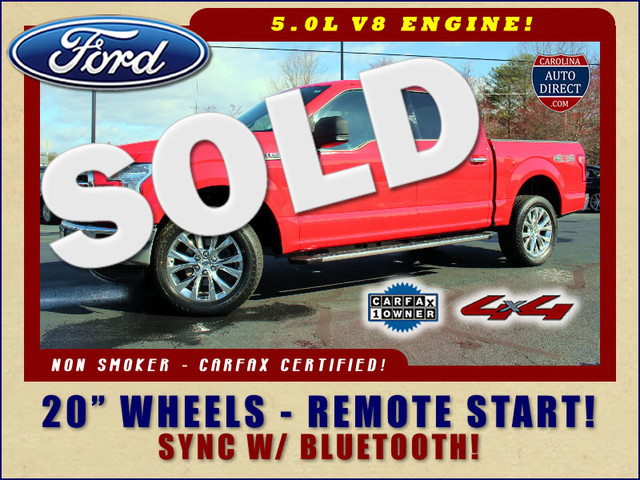 """2015 Ford F-150 XLT SuperCrew 4x4 - 20"""" WHEELS - REMOTE START~ Mooresville , NC 0"""