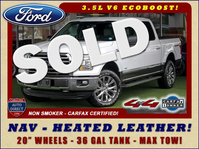2015 Ford F-150 XLT SuperCrew 4x4 - NAV - HEATED LEATHER! Mooresville , NC 0