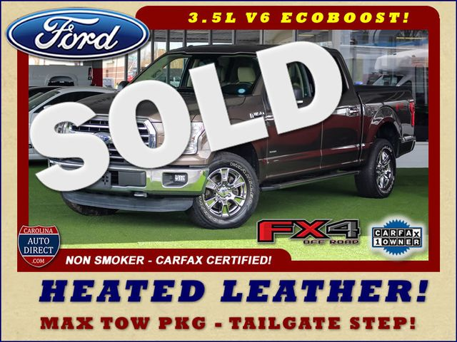 2015 Ford F-150 XLT Crew Cab 4x4 FX4 - HEATED LEATHER! Mooresville , NC 0