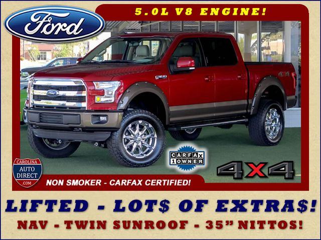 2015 Ford F-150 Lariat SuperCrew 4x4 - LIFTED - NAV - SUNROOFS! Mooresville , NC 0