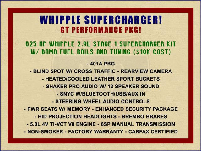 2015 Ford Mustang GT Premium - WHIPPLE SUPERCHARGER! Mooresville , NC 1