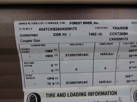 2016 Forest River Grey Wolf Limited 26BH    Marion, Arkansas   King Motor Company in Marion, Arkansas