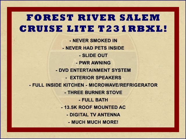 2015 Forest River Salem Cruise Lite T231RBXL Mooresville , NC 1