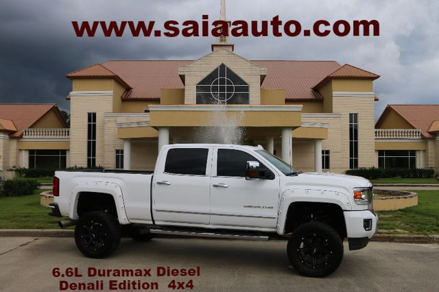 2015 Gmc 2500 Hd Crew Cab Denali 4wd Duramax Diesel NAVI ROOF DRIVER ALERT LOADED LIFTED FLARES DVD 35S ON 20S ONE OWNER CARFAX READY TO GEAUX | Baton Rouge , Louisiana | Saia Auto Consultants LLC in Baton Rouge  Louisiana