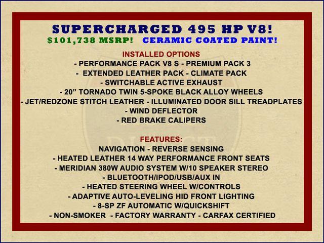 2015 Jaguar F-TYPE V8 S RWD - PERFORMANCE & PREMIUM PKGS! Mooresville , NC 1
