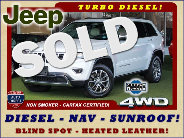 2015 Jeep Grand Cherokee Limited 4WD - TURBO DIESEL - NAV -SUNROOF! Mooresville , NC 0