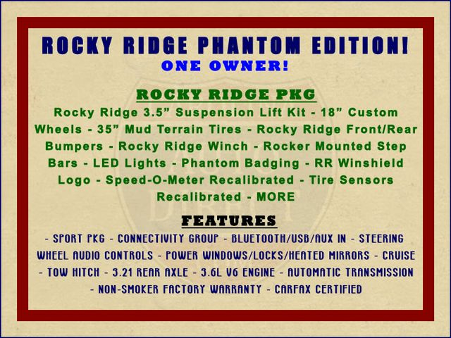 2015 Jeep Wrangler Unlimited Sport 4X4 - ROCKY RIDGE PHANTOM EDITION! Mooresville , NC 1