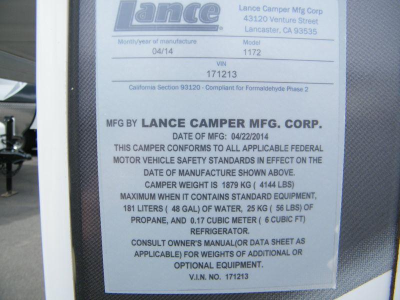 2015 Lance 1172  in Surprise, AZ