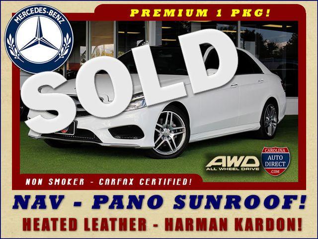 2015 Mercedes-Benz E 350 Sport AWD 4MATIC - NAV - PANO SUNROOF! Mooresville , NC 0