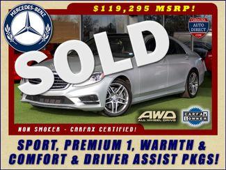 2015 Mercedes-Benz S 550 4MATIC AWD - SPORT, PREMIUM & DRIVER ASSIST PKGS! Mooresville , NC