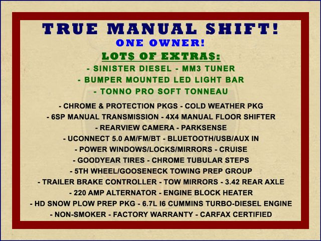 2015 Ram 3500 Crew Cab 4x4 - TRUE MANUAL SHIFT-SINISTER DIESEL! Mooresville , NC 1