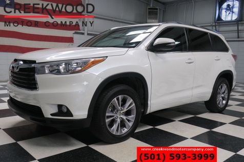 2015 Toyota Highlander XLE White Leather Htd Nav Sunroof 3rd Row 1 Owner in Searcy, AR