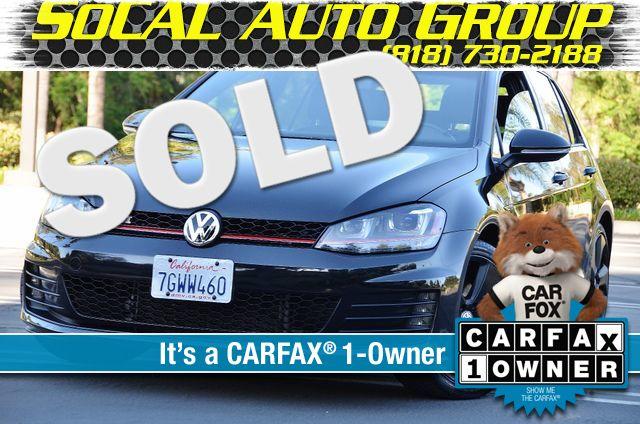 2015 Volkswagen Golf GTI Autobahn - NAVI - LTHR - 39K MILES Reseda, CA 0