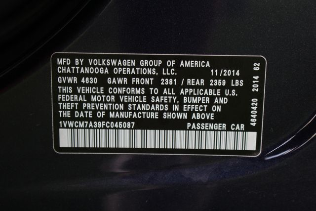 2015 Volkswagen Passat 3.6L V6 SEL Premium - NAVIGATION - SUNROOF! Mooresville , NC 39