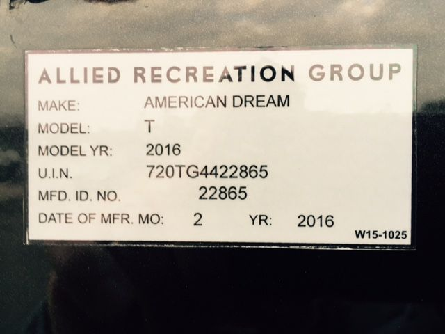2016 American Dream 45T Mooresville , NC 23