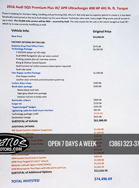 2016 Audi SQ5 Premium Plus Daytona Beach, FL 61