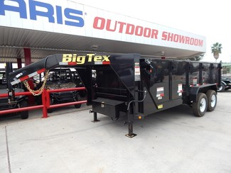 2017 Big Tex 14GX  Heavy Duty Tandem Axle Extra Wide Gooseneck Dump Harlingen, TX