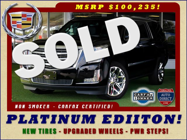 2016 Cadillac Escalade ESV Platinum Edition 4X4 - MSRP $100,235 - NEW TIRES! Mooresville , NC 0