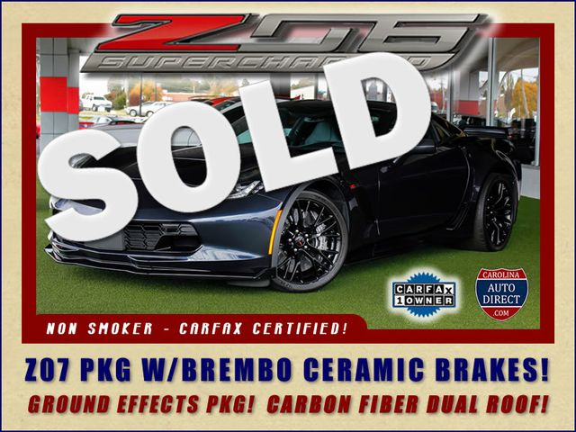 2016 Chevrolet Corvette Z06 3LZ - Z07 PKG - CARBON FIBER - CERAMIC BRAKES! Mooresville , NC 0