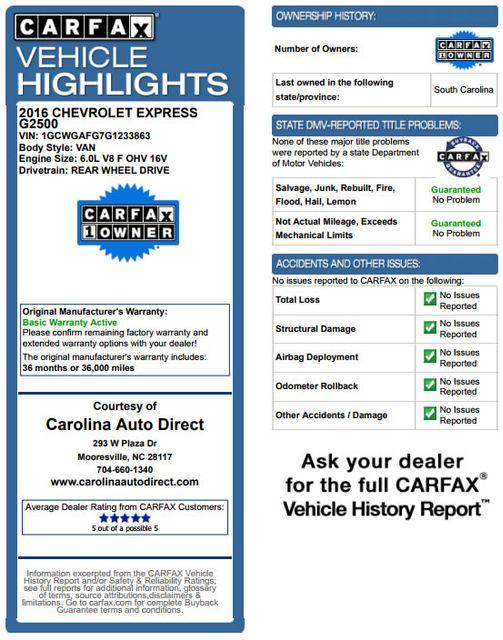 2016 Chevrolet Express Van 2500 SHERROD HIGH TOP CONVERSION VAN Mooresville , NC 3
