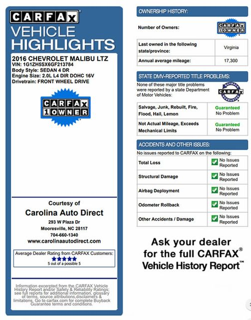 2016 Chevrolet Malibu Premier - DRIVER CONFIDENCE PKGS! Mooresville , NC 3