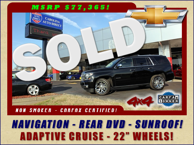 2016 Chevrolet Tahoe LTZ 4X4 - LOADED OUT - $77,365 MSRP! Mooresville , NC 0
