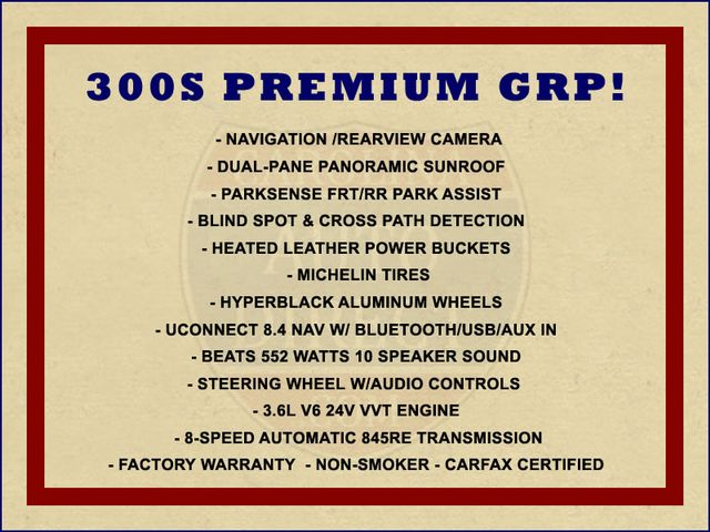 2016 Chrysler 300 300S AWD W/ PREMIUM GRP - NAV - PANO SUNROOFS! Mooresville , NC 1