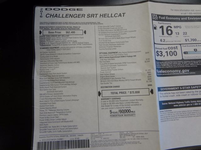 2016 Dodge Challenger SRT Hellcat Austin , Texas 13
